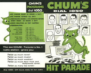 Buying **CHUM HIT PARADE CHARTS** from 1957-1964