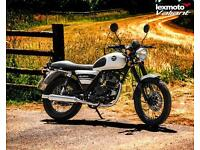 Lexmoto Valiant 125cc Motorbike Leaner Legal Classic Retro Black Pea Shooter