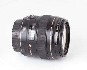 Canon EF USM 100mm f/2 - Parfait pour portraits (prix réduit)