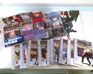 Evangelion Books and Postcard collection