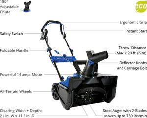 Snow Joe Snow blower for sale 21 inch