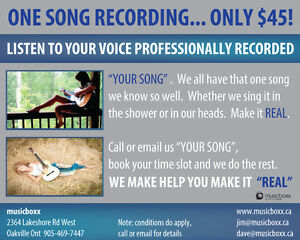 Save up to 80% on Recording Servces in Pro Studio Cambridge Kitchener Area image 2