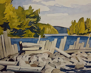 "A.J. Casson ""Old Dam"" Lithograph - Appraised at $750"