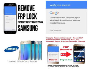 Samsung FRP Google Account / Reactivation Lock Removal Service