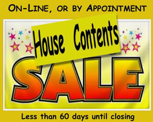 HOUSE CONTENTS SALE - On-Line or by appointment