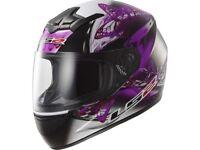 LS2 Rookie FF352 Flutter Ladies Full Face Motorcycle Helmet - Black / Purple