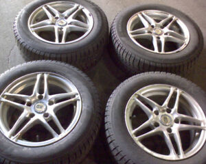 "15"" Advanti Racing Rims + P195 65 15 Pirelli Winter Tires"