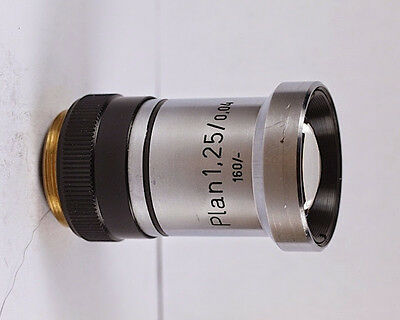 Rare Zeiss Plan 1.25x 0.04 160 Tl Microscope Objective