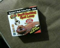 Repti 75 Watt Basking Spot Lamp.Special 2 bulb value Pack[]new]