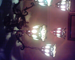 Antiques Chandelier with 5 horns