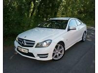 2012(12) MERCEDES C220 2.1 CDI AMG SPORT BLUEEFFICIENCY COUPE DIESEL AUTOMATIC