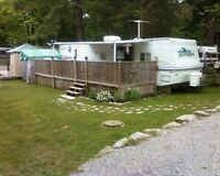 37 foot with slide out on nice lot in birch cove campground