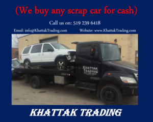 We buy any scrap/unwanted cars for cash!!