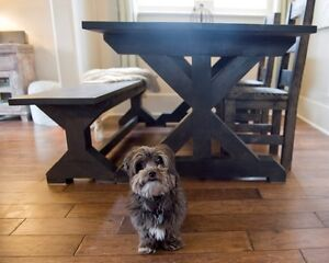 Trestle X farm tables - Custom size & colors