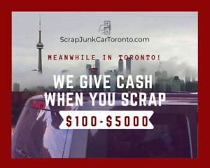 $100-$5000 GET CASH WHEN YOU SCRAP 416-845-3612