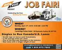Job Fair for Class 1 Owner Operators and Drivers