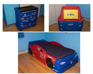 Lit auto et meubles pour enfant