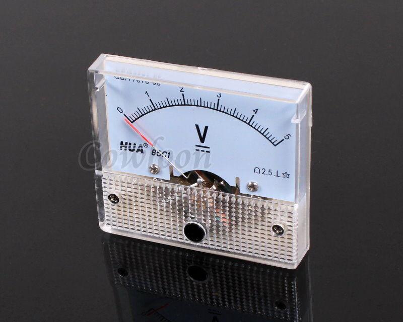 5 Volt Analog Meter : Dc v voltmeter analog panel volt meter pointer