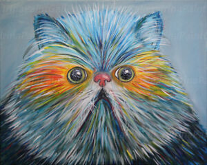 Persian Himalayan-Colorful cat- Fat cat-Cat paintin