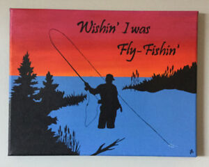 Fly-Fishing Painting