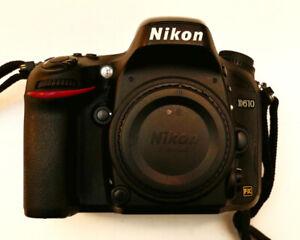Nikon D610 24.3MP Digital SLR Camera Low Sht/Cnt