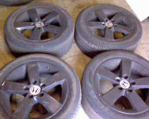 "16"" Honda Black Rims + 205 55 16 Firestone tires"