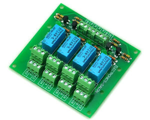 four dpdt signal relay module board 24v version. Black Bedroom Furniture Sets. Home Design Ideas