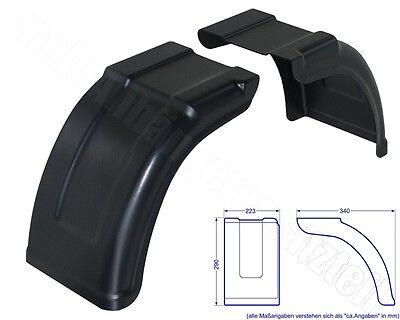 AL-KO / ALKO Kunststoff Tandemkotflügel Kurzkotflügel geteilt PLUS 223x340mm