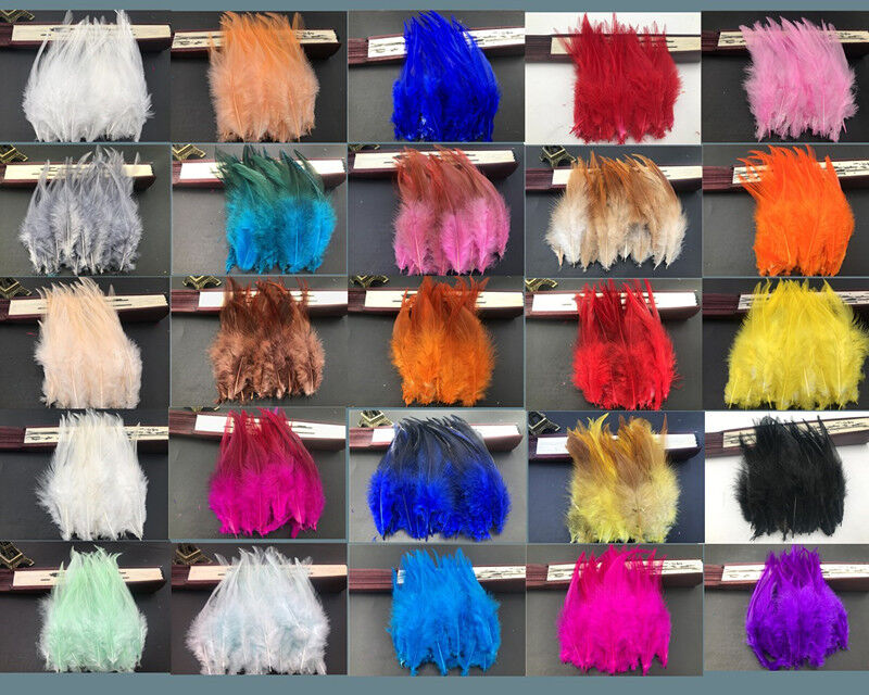 Beautiful 50-500pcs rooster tail feathers 10-15cm 4-6inch 32 Colors
