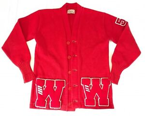 1954 Red Letterman Sweater