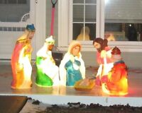 Outdoor Lighted Nativity Set