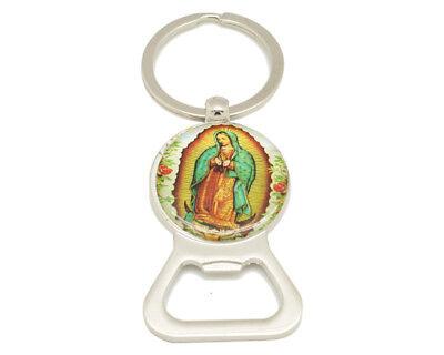 12PC Virgen de Guadalupe Bottle Opener Key Chain Baptism Party Favors Bautizo