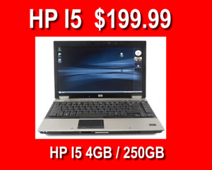 HP Intel i5 Laptops with 4G Memory 320GB harddrive $199.99