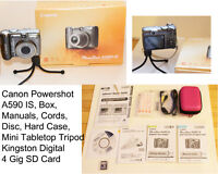PPU: Canon PowerShot A590 IS, Box, Manuals, Extra Accessories!