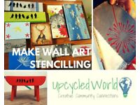 Learn How To Make Stencilled Wall Art - Sunday 28th Jan 2018