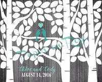 "CUSTOM Birch Tree ""Sign a Leaf"" Wedding Guestbook"