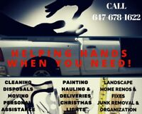 Need Help? Helping Hand Is One Call Away! CONSTRUCTION CLEANUPS