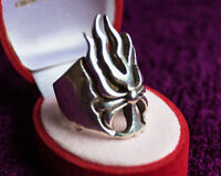 UNIQUE STERLING SILVER RING SIZE 9.5