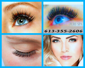 EYELASH EXTENSIONS Pure Spa - 65$  ROCKLAND ~ ORLEANS ~