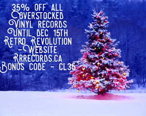 "35% Off Sale !""Overstocked Vinyl""-Christmas At Retro Revolution!"