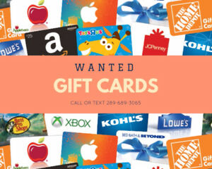 Interested to BUY All Kinds of Gift Cards!!!
