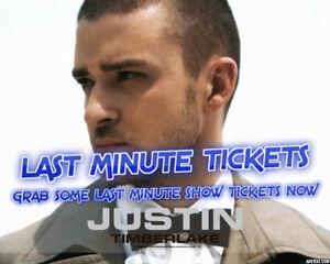 LAST MIN TIX★★Justin Timberlake Rogers Arena★★ FRI Nov 9 7:30PM