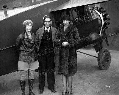 8x10 Print Amelia Earhart Elinor Smith Bellanca Airfield New Castle DE #AEES
