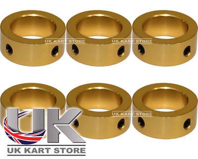Aluminium Kart Steering Column Safety Locking Anello & Screws in Gold 20mm x 6