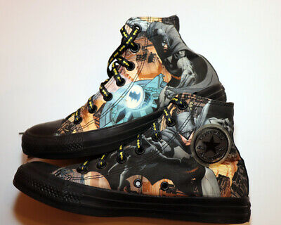 Men's 6/Wm's 8 DC Comics Batman superhero Converse high top canvas - Superhero Converse