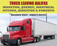 HALIFAX AND ALL POINTS WEST TO TORONTO, ONTARIO