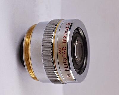 Leitz Pl Fluotar 10x D M32 Infinity Microscope Objective