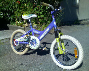 "Girls Kids bike w 16"" Wheels"