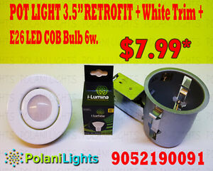 "POTLIGHTS 3.5""RETROFIT kit with 6w LED COB bulb"