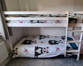 Solid pine white bunk beds